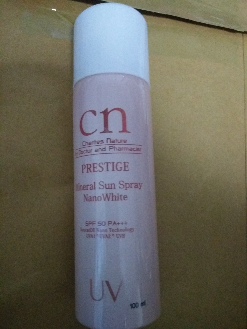 CN Mineral Sun Spray Nano White 100ml รีวิว