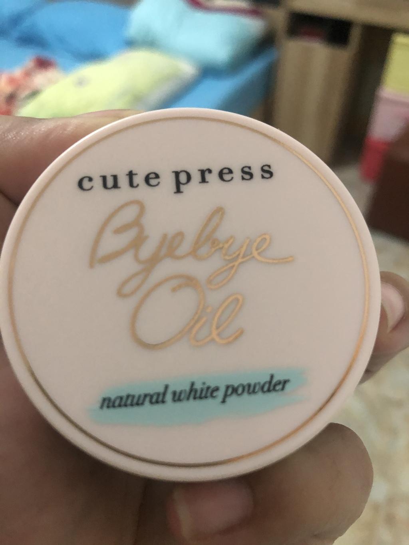Cute Press Bye Bye Oil Natural White Powder รีวิว
