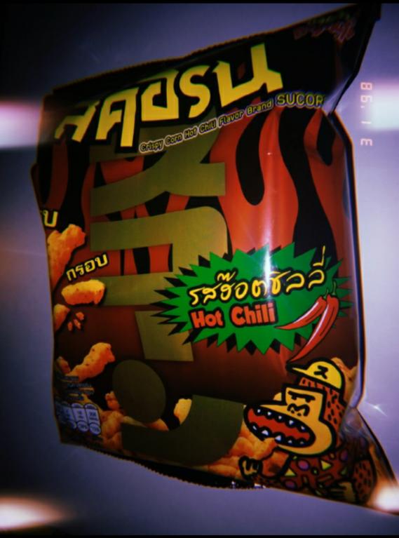 SUCORN Crispy Corn Hot Chili Flavor  สคอร์น รส ฮ๊อตชิลลี่ ขนมข้าวโพดทอดกรอบ รีวิว