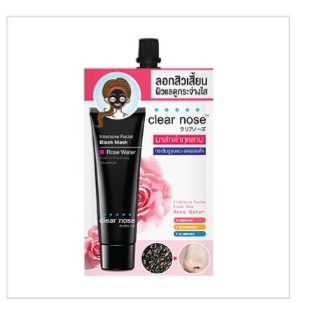 Clear Nose Intensive Facial Black Mask Rose Water 12g