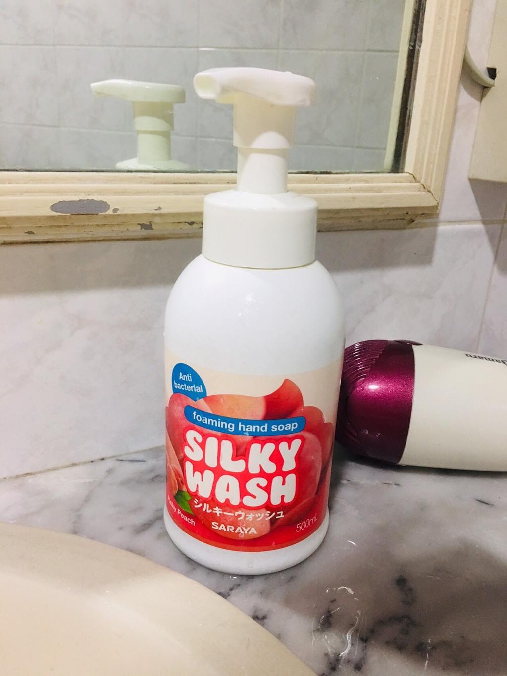 Silky Wash Pinky Peach Set สบู่ล้างมือรูปแบบโฟมกลิ่นพิ้งกี้พีช รีวิว