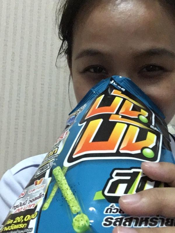 บันบัน สติ๊ก ถั่วลันเตาแท่งอบกรอบ รสสาหร่ายญี่ปุ่น (2 ซอง)