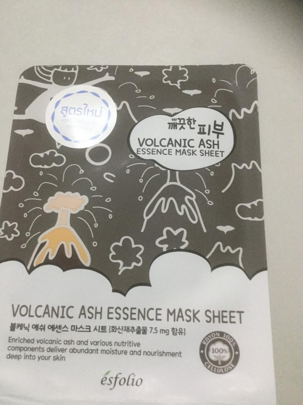 Esfolio Pure Skin Volcanic Ash Essence Mask Sheet รีวิว