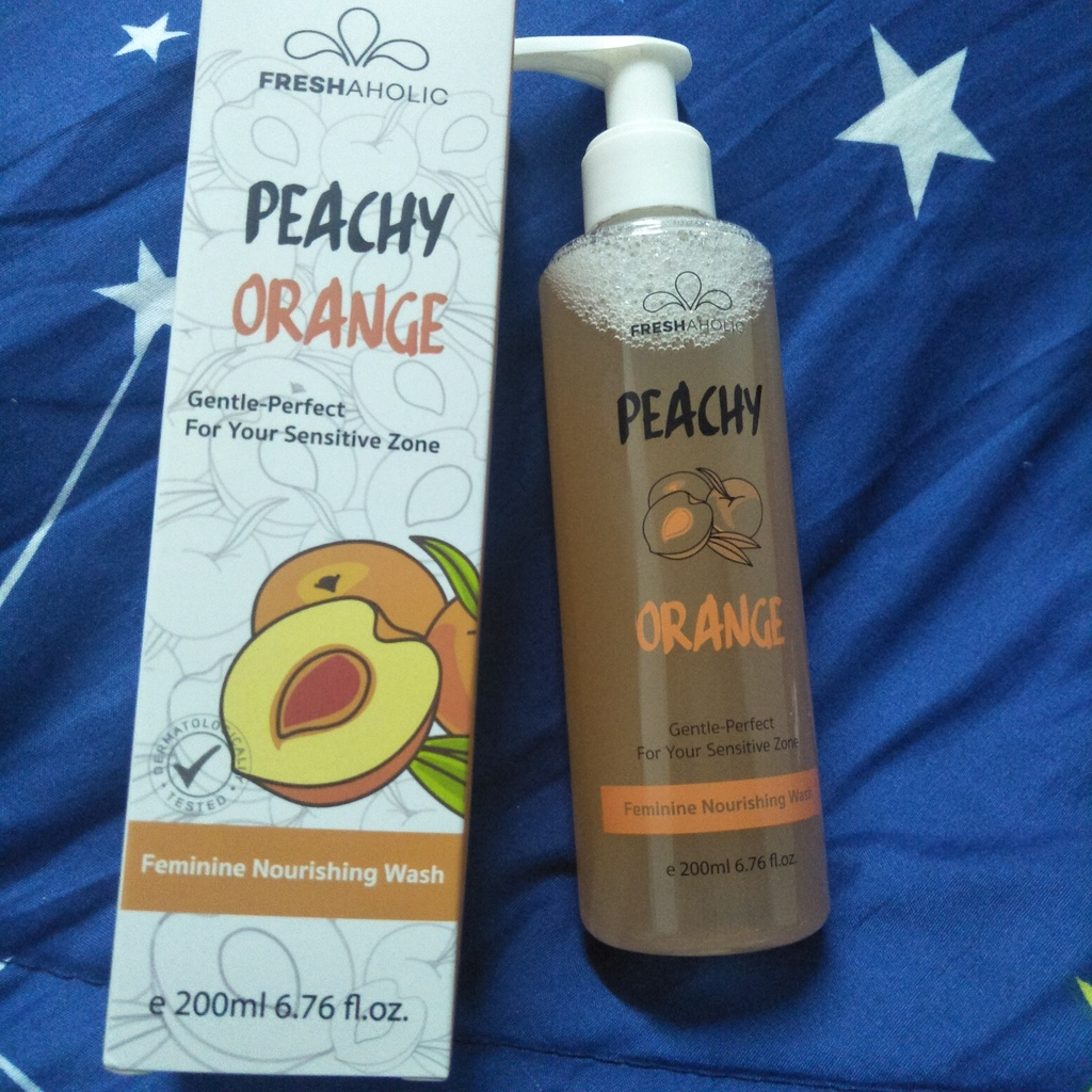 Freshaholic ผลิตภัณฑ์ทำความสะอาดจุดซ่อนเร้นกลิ่น Peachy Orange รีวิว