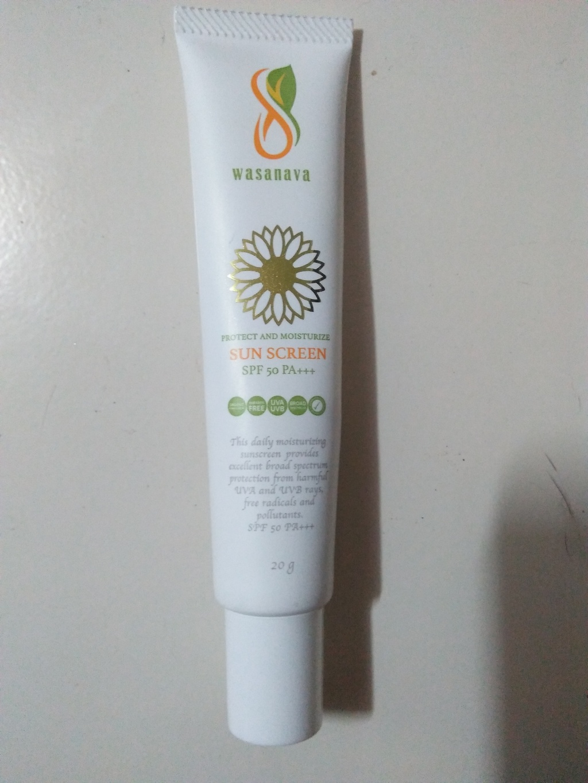 Wasanava sunscreen SPF 50 PA+++   กันแดดสูตรออแกนิค รีวิว