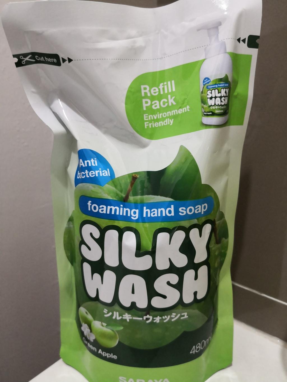 Silky Wash Green Apple Set สบู่ล้างมือรูปแบบโฟมกลิ่นกรีนแอปเปิ้ล รีวิว