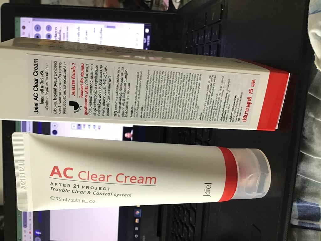 Jaiel AC Clear Cream ครีมบำรุงผิวหน้า แก้ปัญหาสิว ริ้วรอย เพิ่มความกระจ่างใส รีวิว