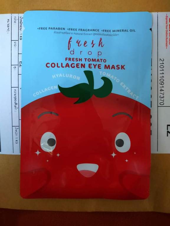 Fresh Drop Fresh Tomato Collagen Eye Mask มาส์กบำรุงผิวรอบดวงตา รีวิว