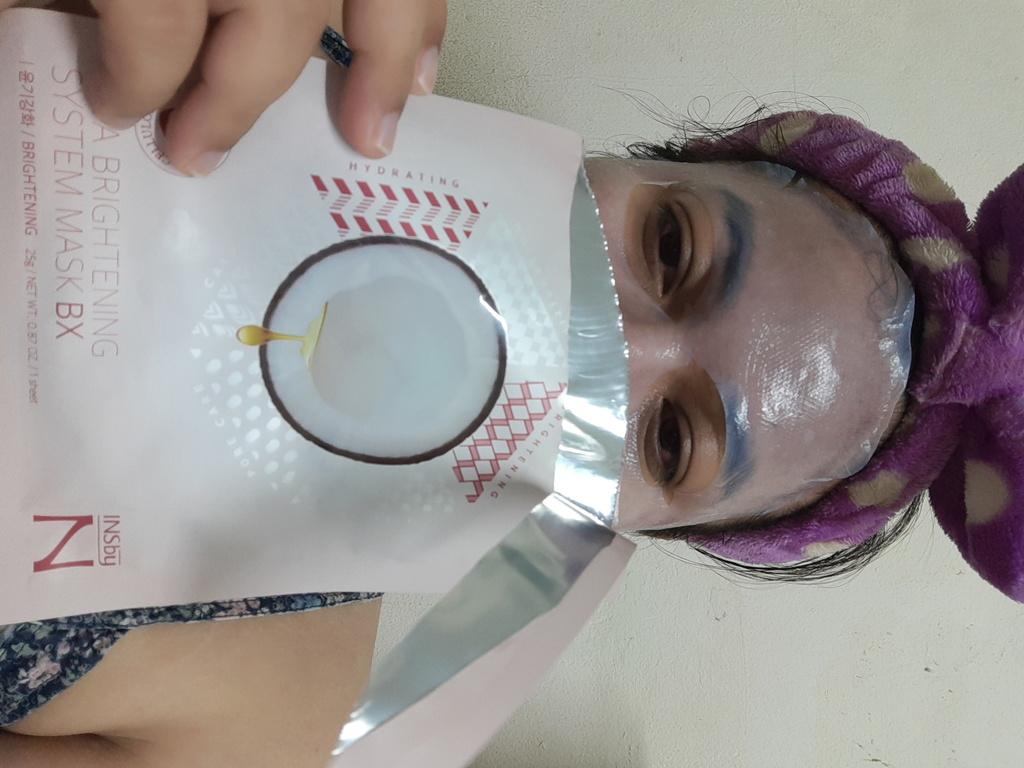 มาส์กเจลลี่มะพร้าว Bio-cellulose (สูตรกระจ่างใส) Vita Brightening System Mask BX by Nectaris รีวิว