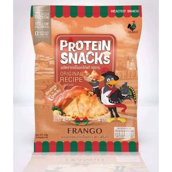 FRANGO โปรตีนสแน็ค ผลิตจากเนื้อ อกไก่ รสออริจินอล รีวิว