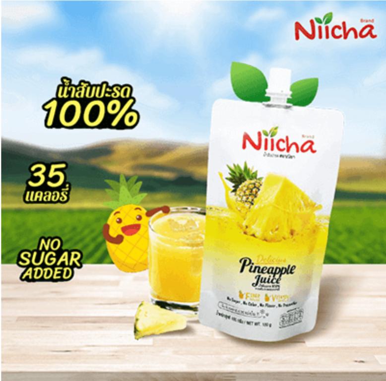 Niicha ณิชา น้ำสับปะรด ผลไม้ 100% รีวิว