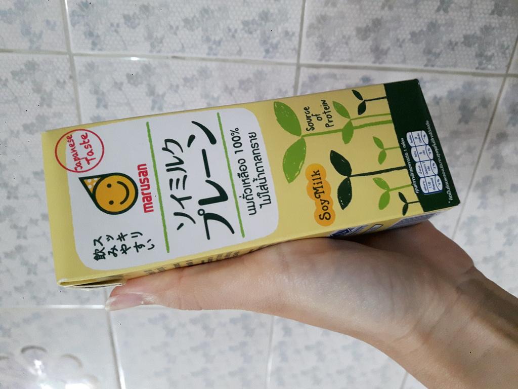 MARUSAN Soy Milk Plain นมถั่วเหลือง 100% ไม่ใส่น้ำตาล 250ml