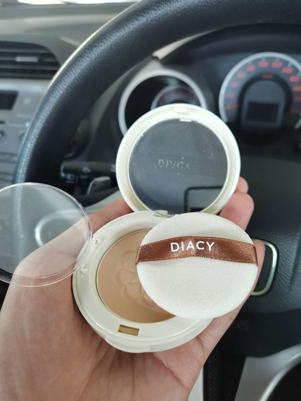 Diacy Gentle Pressed Powder แป้งพัฟข้าวเจ้า เบอร์ 20 Soft Ivory สีเนื้อ รีวิว