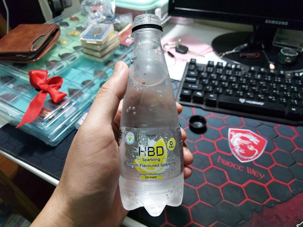 HBD Lemon Sparkling เครื่องดื่มอัดก๊าซกลิ่นเลมอน 0 แคลอรี่ หวานน้อย ไม่มีน้ำตาล รีวิว