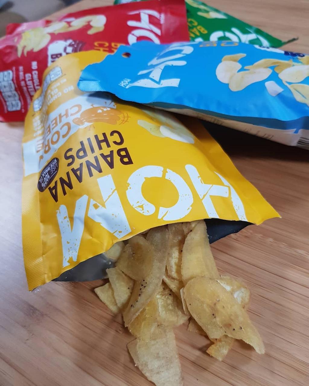 Hom Banana Chips กล้วยหอมทองแผ่นกรอบอร่อย