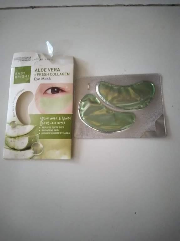 Baby Bright ALOE VERA & Fresh Collagen EYE MASK รีวิว