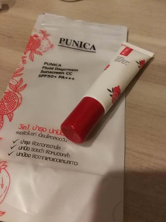 PUNICA FLUID DAY CREAM SUNSCREEN CC SPF 50+ PA+++ รีวิว