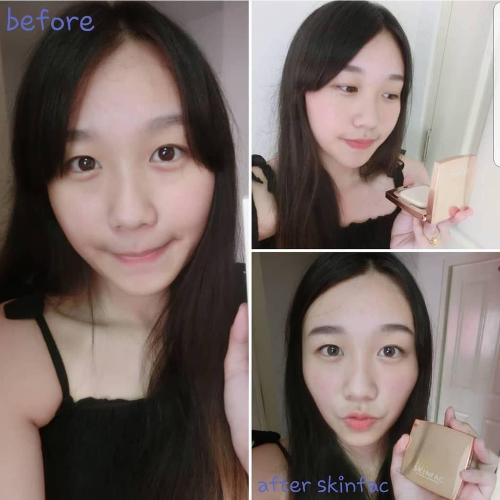 Skinfac Silk Satin Illuminant Skin Two Way Powder