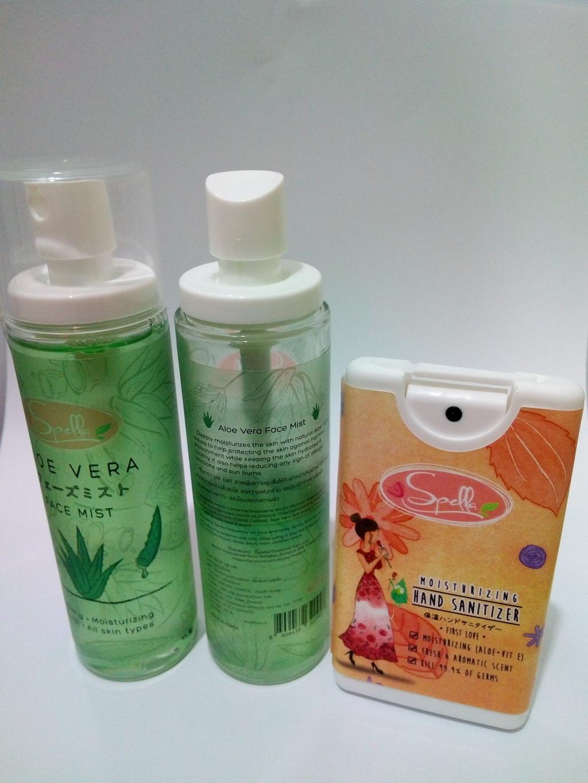 SPELLA  Aloe Vera Face Mist + Moisturizing Hand Sanitize Set 1 รีวิว