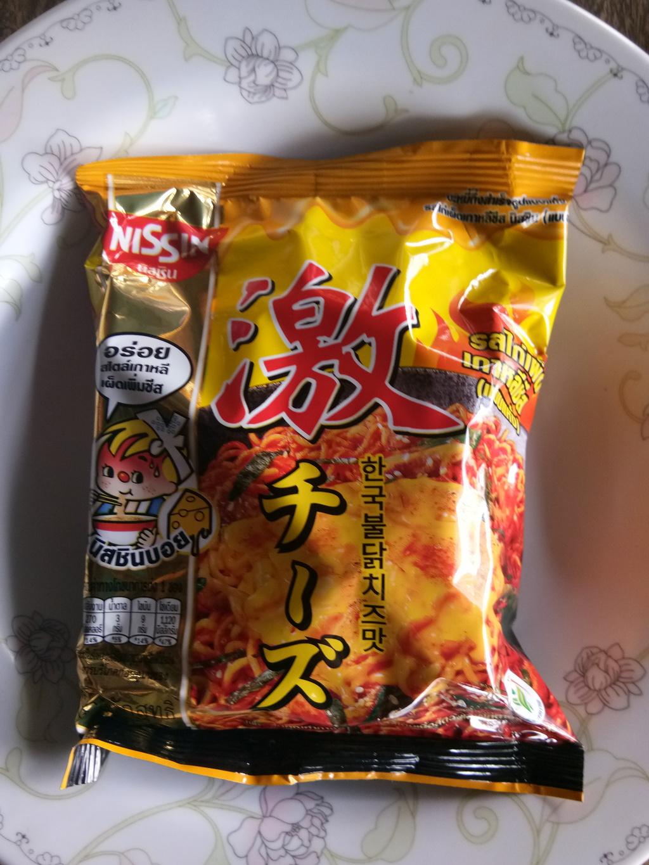 นิสชิน พรีเมี่ยม รสไก่เผ็ดเกาหลีชีส (แบบแห้ง)  รีวิว