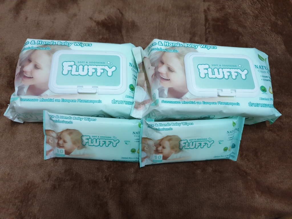 Fluffy Soft and Soothing ทิชชูเปียก