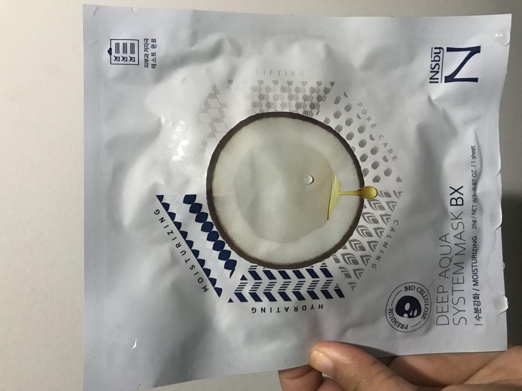 มาส์กเจลลี่มะพร้าว Bio-cellulose (สูตรเติมความชุ่มชื้น) Deep Aqua System Mask BX by Nectaris รีวิว