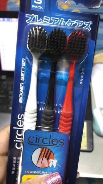 แปรงสีฟัน circles หัวแปรงดีไซน์จากประเทศญี่ปุ่น ขจัดคราบหินปูน สะอาดล้ำลึก รีวิว