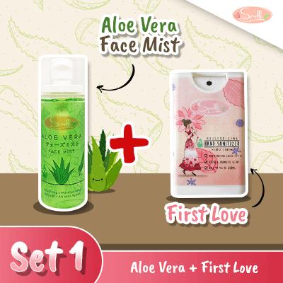 SPELLA  Aloe Vera Face Mist + Moisturizing Hand Sanitize Set 1