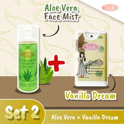 SPELLA  Aloe Vera Face Mist + Moisturizing Hand Sanitize Set 2