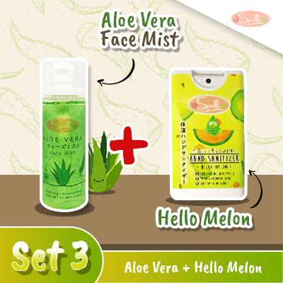 SPELLA  Aloe Vera Face Mist + Moisturizing Hand Sanitize Set 3