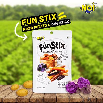 NOI Fun Stix Mixed Potato and Yam Stick