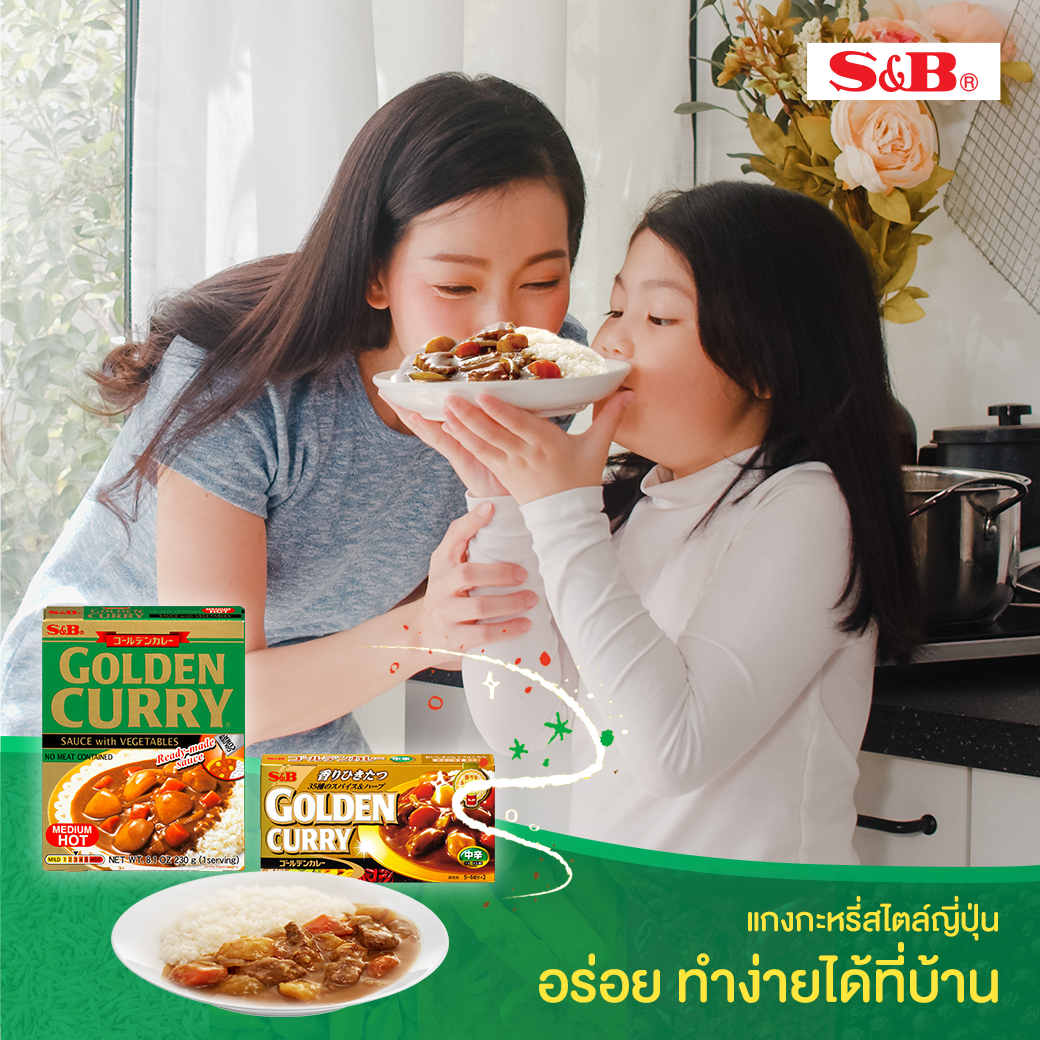 S&B golden curry sauce mix + retort curry