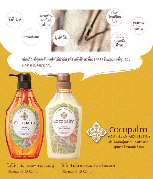 Cocopalm ผลิตภัณฑ์โฮมสปารูปแบบใหม่ ทำความสะอาดเส้นผมและหนังศีรษะอย่างอ่อนโยน เพื่อผมสุขภาพดีจากภายใน