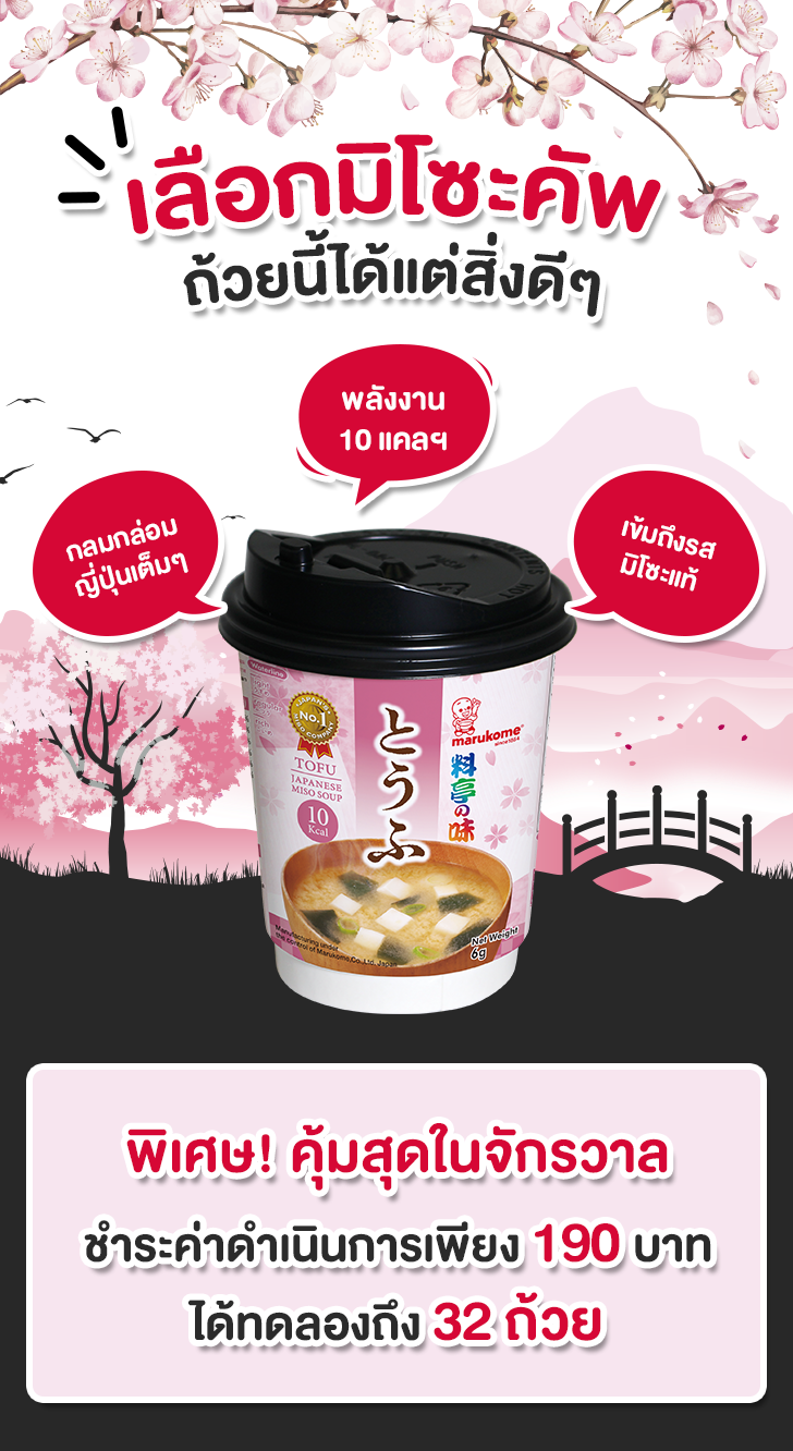 Japanese miso soup tofu cup รีวิว